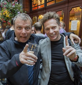 ICA dream team, Warren Eagles and Dado Valentic, toasting another successful graduation of Resolvers outside the Soho watering hole 'The Ship'. ©Matta2014