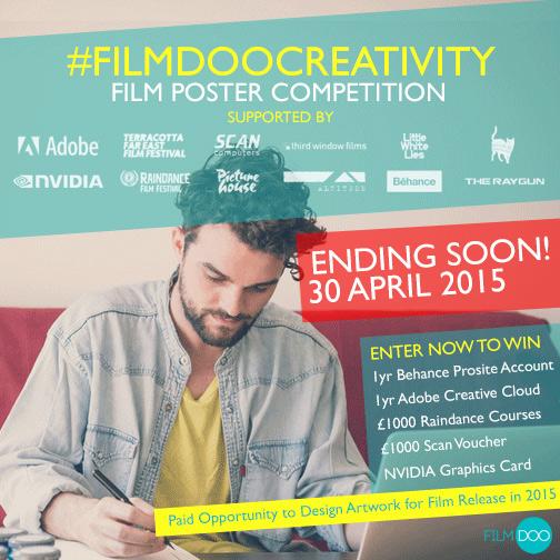 FilmDoo Competition 30 April reminder